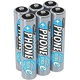 ANSMANN 6 piles rechargeables pour téléphone sans fil AAA, 1,2V / 800mAh / Accumulateurs pour...