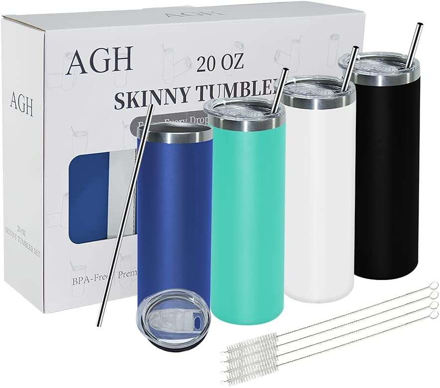 AGH 20 oz Insulated Tumblers Bulk Rare Ranking TOP16 4 Skinny Steel Stainless pack