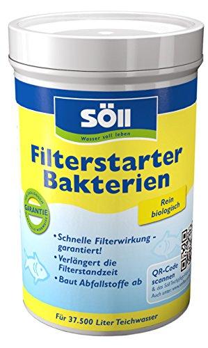 Söll 14424 FilterstarterBakterien hochreine Mikroorganismen für Teiche 250 g - natürliche Filterbakterien aktivieren die Biologie der Filter im Gartenteich Fischteich Koiteich Schwimmteich