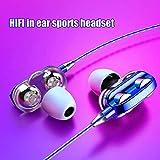 YANG1MN. Gaming Wired Earbuds, Universal In-Ear-Schwer Bass Stereo Wired Kopfhörer Sport Kopfhörer...