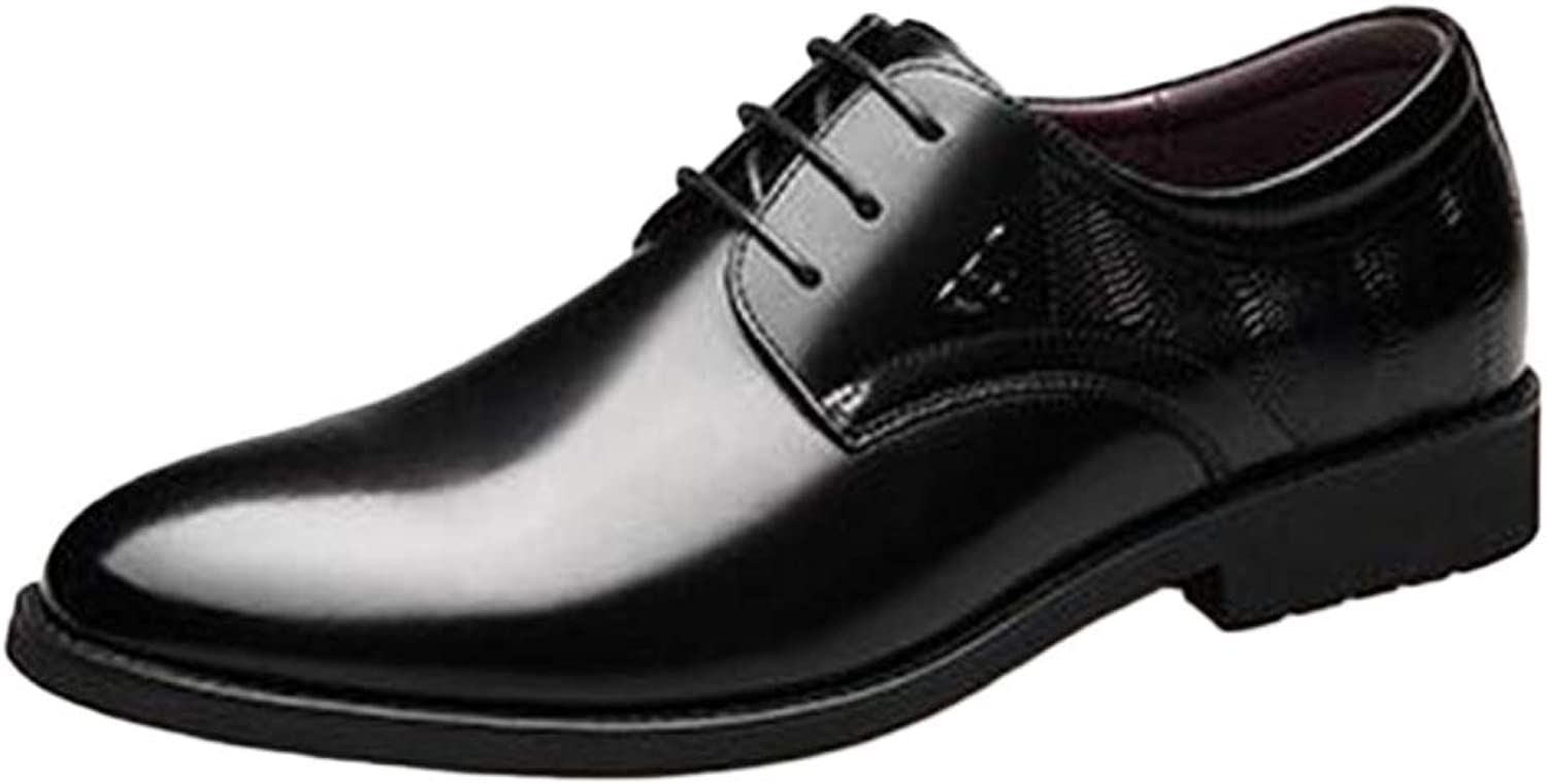 Mens Dress shoes Laces Formal Business Pointed Classic Lace-up Leather shoes Autumn Winter Comfort Casual Low-top shoes