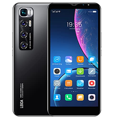 Cheap Android Mobile Phones, 5.5 Inch IPS Touchscreen,Quad-Core 4GB Cell Phones, Dual Sim Dual Cameras Smartphone, Support:Bluetooth, GPS, Wifi etc. (M10-Black)
