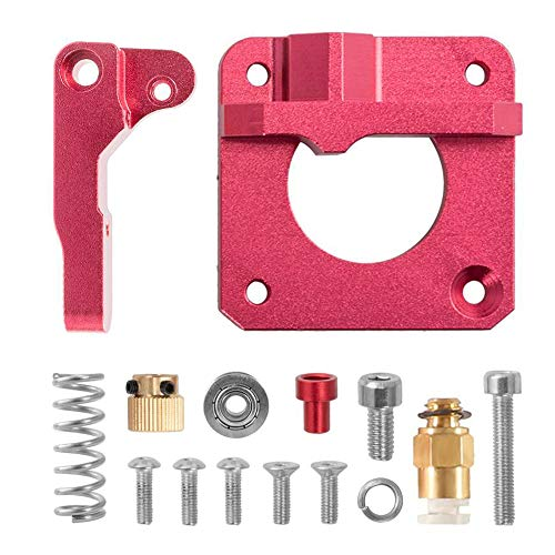 HAWKUNG 3D Printer Upgraded Replacement Aluminum MK8 Drive Feed Remote Extruder Compatible with Creality CR-10 and Other Reprap Prusa 3D Printers (Left Hand)