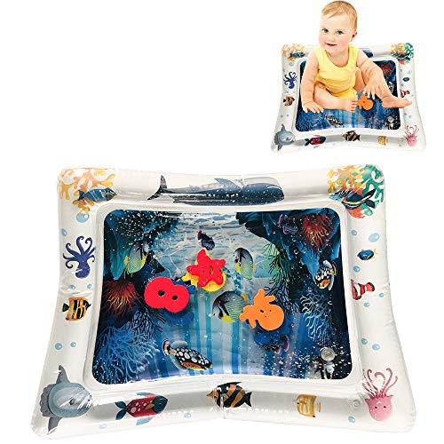 EZSMART Tummy Time Waterspeelmat voor zuigelingen, Opblaasbare baby water speelmat voor 3 6 9 maanden, leuke activiteit speelcentrum speelgoed voor de stimulatie van de baby groei (#2)