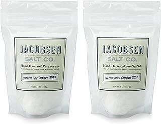 Jacobsen Salt Co - 4 oz Bag of Flake Finishing Sea Salt, Hand Harvested in Netarts Bay, ORMade in USA, 2 Pack