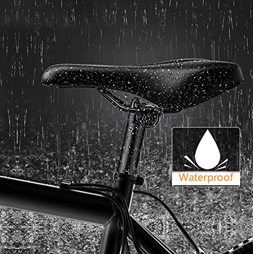 Mountain Bike Seat - The Comfortable Bike Seat, Memory Silicon leather bike saddle Waterproof Bike Saddle, Universal Fit cushion bike seat, Shock Absorbing Including Mounting Wrench and Allen Key