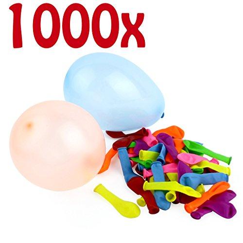 Belmalia 1000 Stuks Gekleurde Neon Waterballonnen - Waterbommen – Watergevecht - Gemakkelijk te Vullen