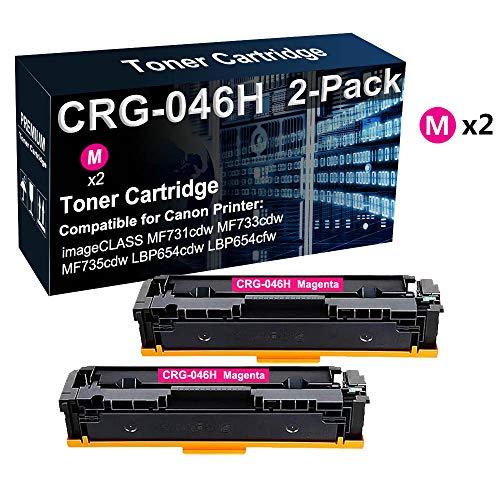 Confezione da 2 cartucce toner di ricambio per Canon CRG-046H 046H 046H (magenta)