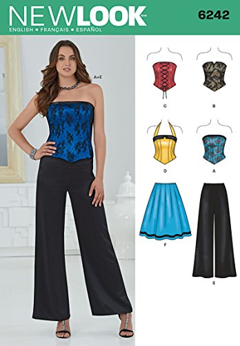 Simplicity New Look Sewing Pattern 6242: Misses' Corset Top, Pants and...