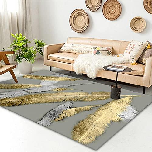 alfonbras infantil Amarillo Sofá alfombra gris plumas amarillas simple moderna moderna alfombra de agua lavado de agua cuadros cabecero cama matrimonio 120x160cm habitacion bebe 3ft 11.2''X5ft 3''