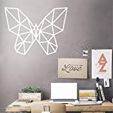 hetingyue Geometric Butterfly Quotes Art Deco Home Decoration Removable Vinyl Wall Sticker Living Room Animal Series Wall Decoration 87x66cm