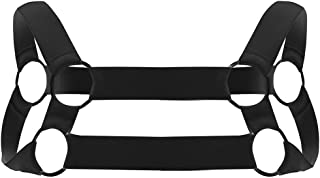 Agoky Men`s Strong Nylon Body Chest Harness Belt Shoulder Support Suspender Strap Club Wear Costumes