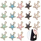 DIYstore 50 Pcs Alloy Sea Animal Starfish Charms Pendant for Earrings Bracelets Necklace DIY Making Jewelry Making Accessories