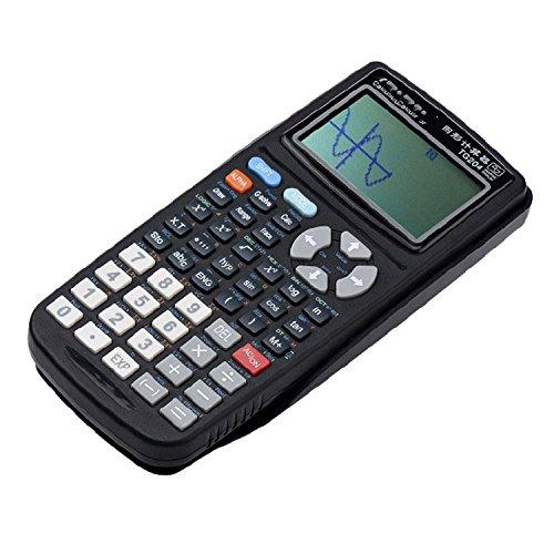 GJJ Prüfungszeichnungscomputer - Scientific Function Graphic Programming Calculator 12-Stellige Anzeige - Arithmetisches Artefakt,Schwarz,A