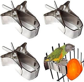 3 Pcs Porte Nourriture pour Oiseaux Mangeoire À Oiseaux pour Perroquet Pince de Nourriture pour Petits Animaux Porte Fruits Oiseaux Porte légumes