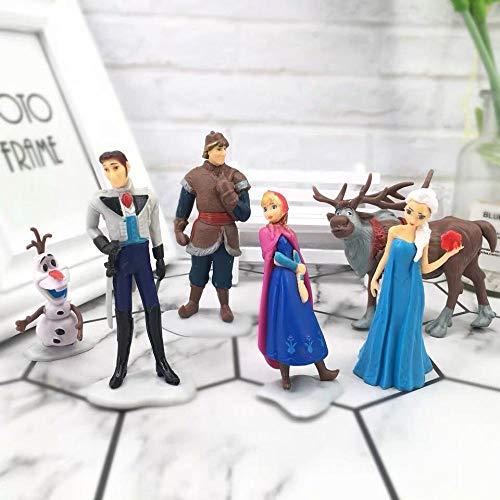 Decorazione Torta di Compleanno Decorazione da Forno Principessa Biancaneve-Frozen 6 Pzzeenca