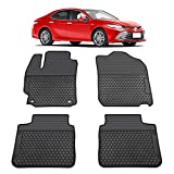 TeddyTT Floor Mats Compatible with Toyota Camry 2012 2013 2014 2015 2016 2017 Heavy Duty Rubber Front&Rear Car Carpet Waterproof Custom Seasons Odorless All Weather 3D high Edge Anti-Stain (4PCS)