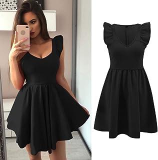 MEILINVREN Vestidos para,Elegante Dise/ño En Color Negro De Mujeres Chinas Qipao Cheongsam Nuevo Verano Mini Drees Mujeres Vestido Tendencia