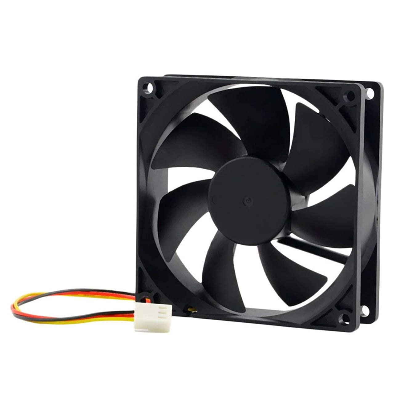 Exiao 1pc 12V 3-Pin 9cm 90 x 25mm 90mm CPU Heat Sinks Cooler Fan DC Cooling Fan 65 CFM Fast Free