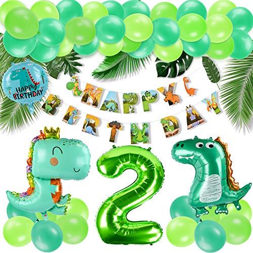 KATELUO Decoracion Cumpleaños Dinosaurios,Selva Fiesta de Cumpleaños Decoracion, Selva Fiesta de cumpleaños decoracion Niño,Decoración de globos de cumpleaños para niños. (2)