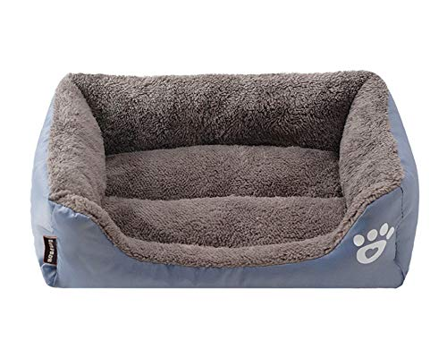 GUOCU Care Dog Bed Large Dog Sleep Mat Pad Bed Soft And Warm Fluffy Fake Fleece Blanket Kennel Washable Pet Bed Cushion For Small Medium Large Dogs And Cats,Grey,XXL
