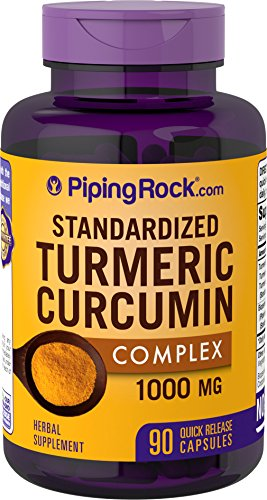 Standardized Turmeric Curcumin Complex with BioPerine® Black Pepper, 1000 mg, 90 Capsules