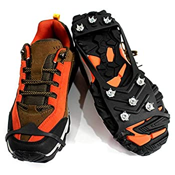 DUDUDU Crampons Neige Et Glace Universelles - Crampons Antidérapants Crampons pour Chaussures De Randonnée - Crampons Chaussures Neige [35-40, 41-45] - Crampons À Glace Antidérapants pour Chaussures