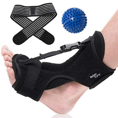 Plantar Fasciitis Night Splint   Plantar Fasciitis Support Brace - Breathable & Adjustable Orthotic Brace   Effective Relief from Plantar Fasciitis, Achilles Tendonitis, Heel and Ankle Pain