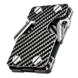 NEW-BRING | Multifunction Metal Key Holder and Credit Card Money Clip Wallet (Carbon fiber)