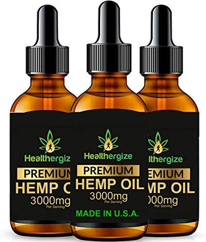 hb oils center hemp oils Healthergize Premium 100% Pure Hemp Oil Non-GMO Unrefined with Full Flavor and Natural Benefits