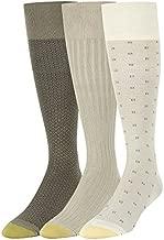 Gold Toe Men's Dress Crew Socks, 3-Pairs, String/Driftwood, X-Large