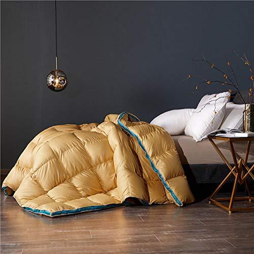 CHOU DAN Summer duvet double bed climate control single duvet 4.5 Tog summer duvet single bed-150x200 3500g_yellow