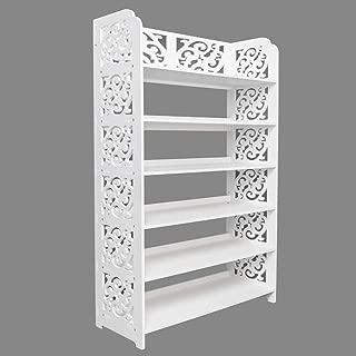 TimmyHouse Shelving 6 Tier Shoe Rack Shelf Wall Bookcase Storage Decorative Pattern New