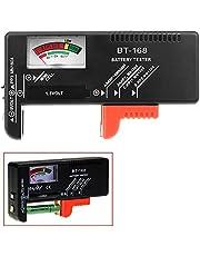 OcioDual Probador Testador Universal Comprobador de Pilas Baterias AA AAA C D 1.5V 9V BT-168 Negro