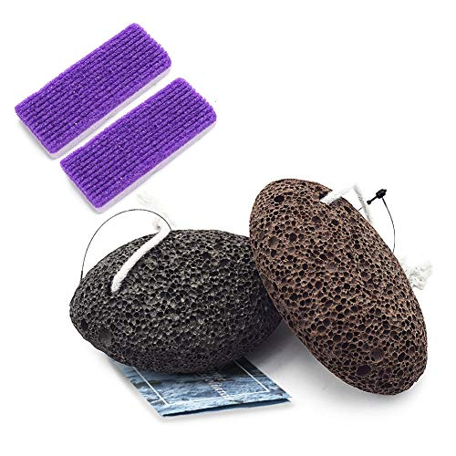 TOUGS Pumice Stone for Feet, Hard Skin Callus Remover and Scrubber, Callus Remover Foot Scrubber Home Pedicure Exfoliation, 4 Pack