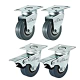 VivReal Super Deal Genie Lot de 4 roulettes pivotantes, 50 mm