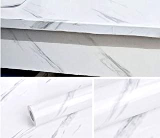 GRACE & GARDENIA White Marble Contact Paper Self Adhesive Removable 17.7