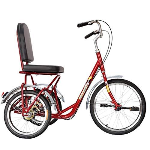 Triciclo Adulto Triciclo for adultos con canasta, bicicletas de 3 ruedas Adultos...