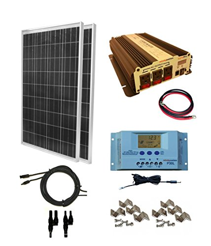 WindyNation 200W 12V Off-Grid RV Solar Panel Kit
