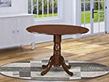 East West Furniture DLT-MAH-TP Dublin Table-Mahogany Table Top Surface and Mahogany Finish Pedestal Legs Hardwood Frame Modern Dining Table