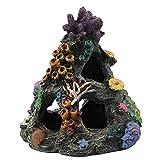 Liadance Colorido del Acuario de Resina Artificial Coral Cueva Decoración de Marina del Tanque de Peces de Acuario Adorno de Mountain View Paisaje de la decoración de la Roca 1PC 5.3x5.3x6.29inch