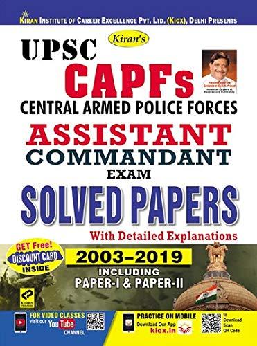 Kiran UPSC CAPFs Assistant Commandant Exam Solved Papers English (2789)