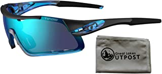 Tifosi Davos Crystal Blue Sunglasses with Cloth