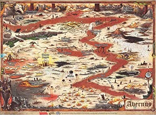 D & D: Descent into Avernus – Map (23' x 15').