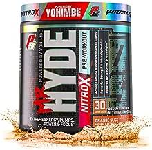 ProSupps® Mr. Hyde® NitroX Pre-Workout Powder Energy Drink - Intense Sustained Energy, Pumps & Focus with Beta Alanine, Creatine & Nitrosigine, (30 Servings, Orange Slice)