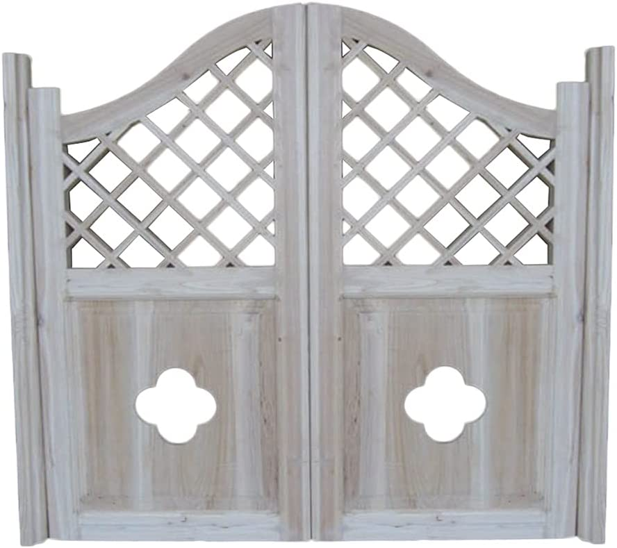 JUANJUAN Swinging Cafe Doors Grid Au Hinges Fence Gate Save money Finally resale start Included
