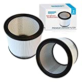 HQRP Cartridge Filter 2-Pack compatible with Shop-Vac 90350 90304 90333 Replacement fits most Wet/Dry Vacuum Cleaners 5 Gallon and above