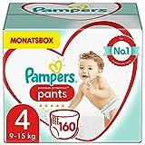 Pampers Baby Windeln Pants Größe 4 (9-15kg) Premium Protection, 160 Höschenwindeln, MONATSBOX