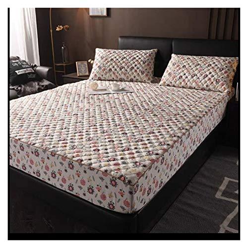 RHBLHQ Sábana algodón colchón Acolchado Cubierta Rey Reina Anti Polvo colchón de ácaros bottera Cubierta de Almohadilla sin incluir la Funda de Almohada