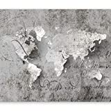 Fotomurali 400x280 cm - Carta da parati sulla fliselina ! Hit ! Carta da parati in TNT ! Quadri murali XXL ! Fotomurale concreto mappalunao iscrizione k-A-0018-a-a